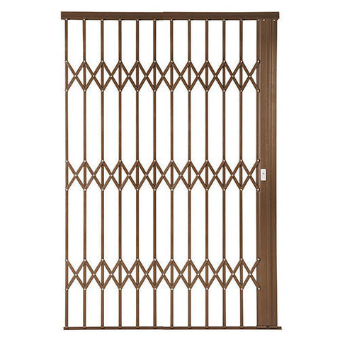Xpanda Alu-Glide Plus Security Gate - 2200mm Bronze | Sliding Security Gate