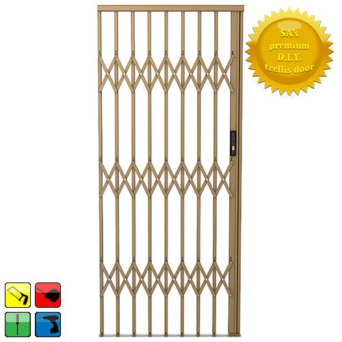 Xpanda Alu Glide Security Gate 1500mm Bronze