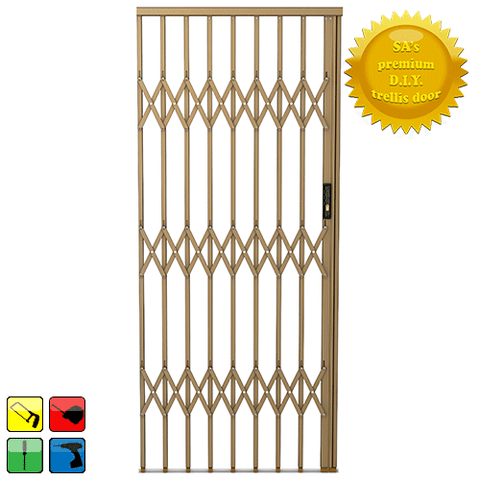 Xpanda Alu-Glide Security Gate - 1500mm Bronze | Sliding Security Gate