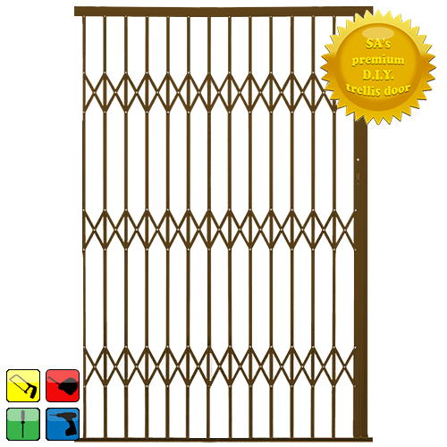 Xpanda Alu-Glide Security Gate - 2500mm Bronze | Sliding Security Gate