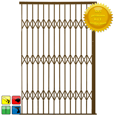 Xpanda Alu-Glide Security Gate - 1800mm Bronze | Sliding Security Gate