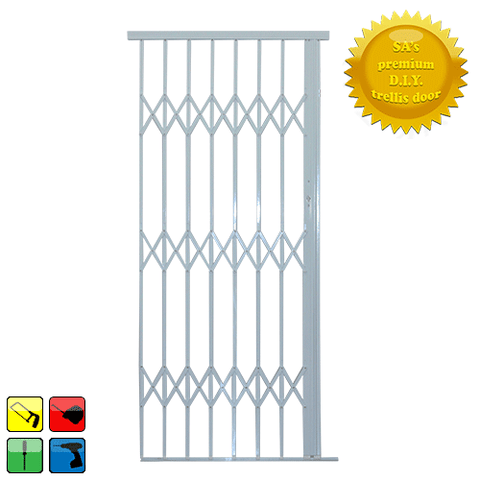 Xpanda Alu-Glide Security Gate - 1000mm White | Sliding Security Gate