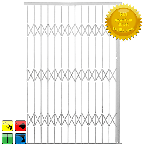 Xpanda Alu-Glide Security Gate - 1800mm White