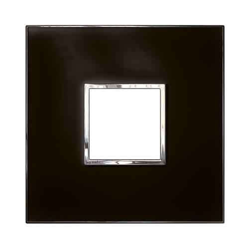 Legrand Arteor Cover Plate 2 Modules 4 x 4 - Mirror Black