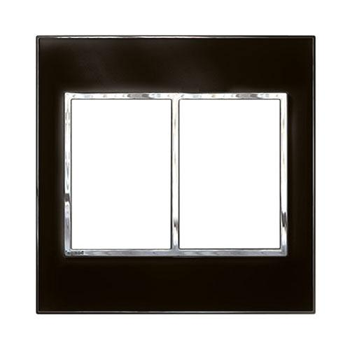 Legrand Arteor Cover Plate 2 x 3 Modules 4 x 4 - Mirror Black