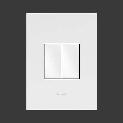 Legrand Arteor 2 Lever Light Switch - White P224WWH