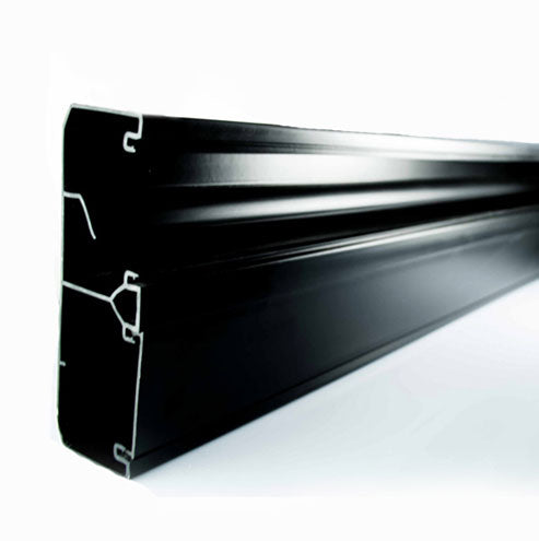 Decorduct 3 Compartment Power Skirting 2 5m Black Livecopper