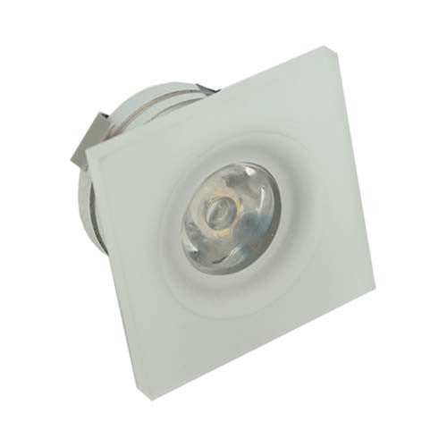 Major Tech Square Frosted Acrylic LED Ceiling Light 1W