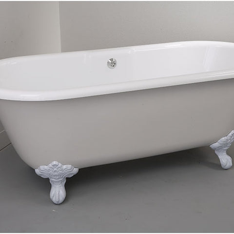 COBRA Roman Freestanding Bath, White Foot Set
