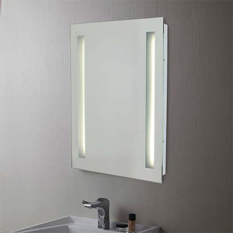 Eurolux Large Bathroom Mirror Wall Light With Vertical Strip Illuminators