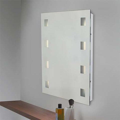 Eurolux Large Bathroom Mirror Wall Light With Vertical Illuminators