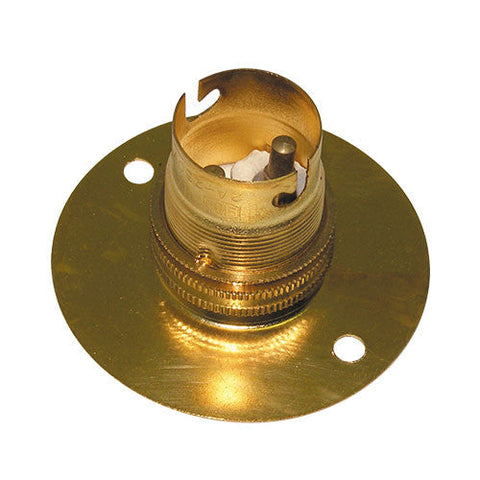 Matelec Brass B22 Batten Lamp Holder 50mm