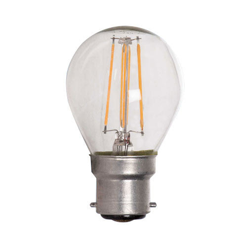 Bright Star LED Filament Golf Ball Bulb B22 4W 360lm - Warm White
