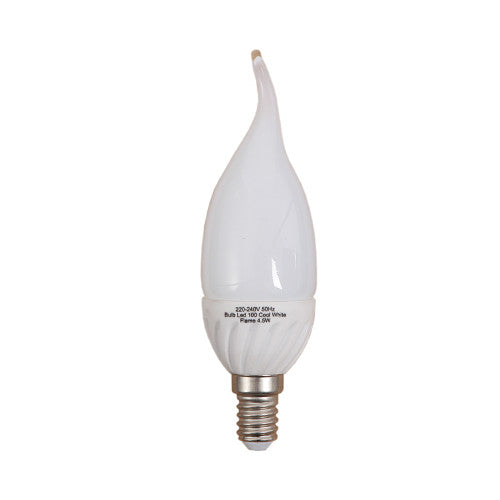 Bright Star LED Flame Bulb E14 4.5W 360lm - Cool White