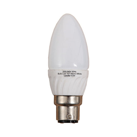 Bright Star B22 LED Cool White Candle Bulb 4.5W