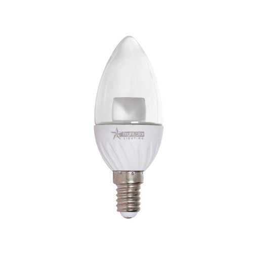 Bright Star LED Candle Lens Bulb E14 5W 350lm Warm White