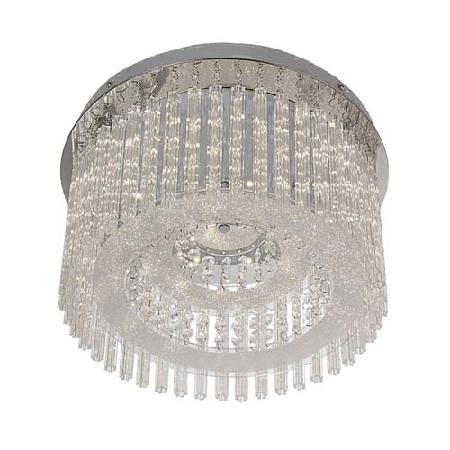 Bright Star Wave Stainless Steel LED Ceiling Fitting