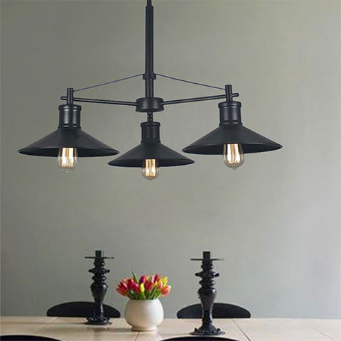 Bright Star Classic Black Metal Chandelier