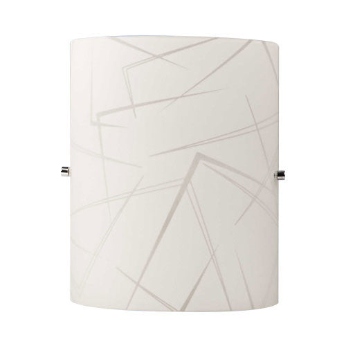 Bright Star Corner Patterned Glass Wall Light