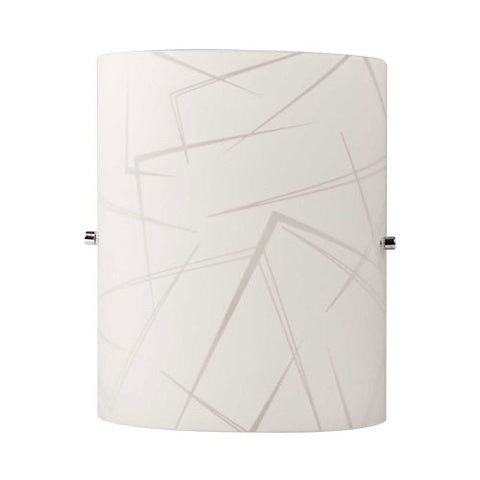 Bright Star Corner Patterned Glass Wall Light WB080/1 WHITE