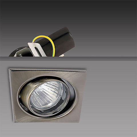 Bright Star Square Tilt Downlight Gun Metal