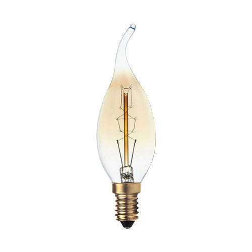 Bright Star Carbon Filament Flame Bulb E14 40W - Warm White