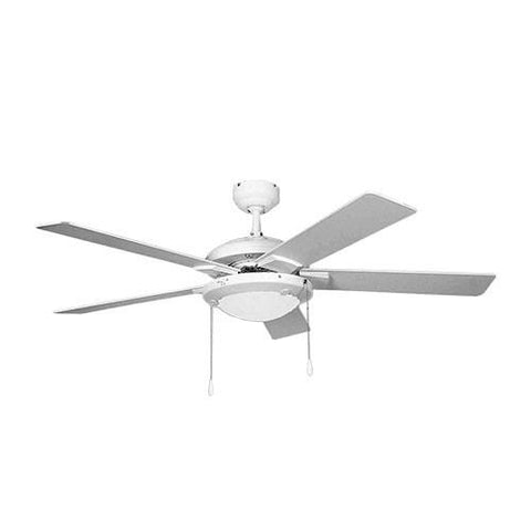 "Bright Star 52"" 5 Blade Ceiling Fan with Lights - White"