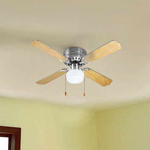 Bright Star Light Wood Ceiling Fan With Light