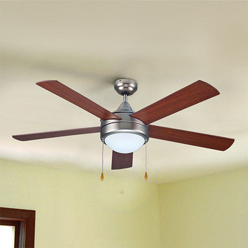 Bright Star Matt Nickel Ceiling Fan