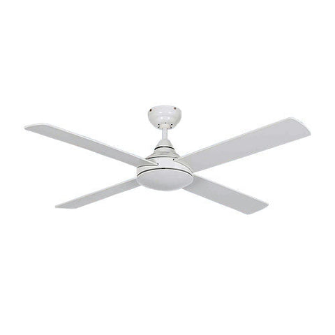 Bright Star White Ceiling Fan With Light
