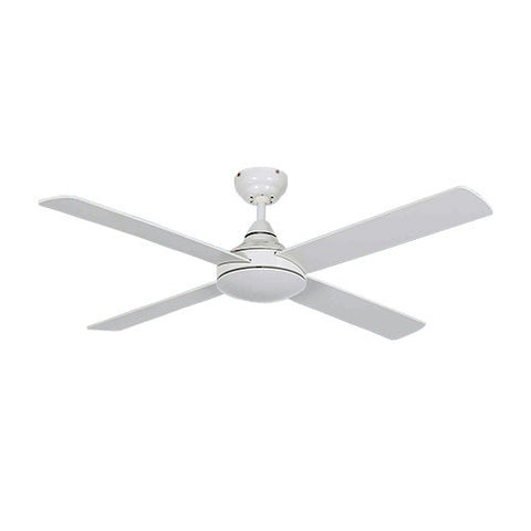 "Bright Star 48"" 4 Blade Ceiling Fan with Wall Control - White"