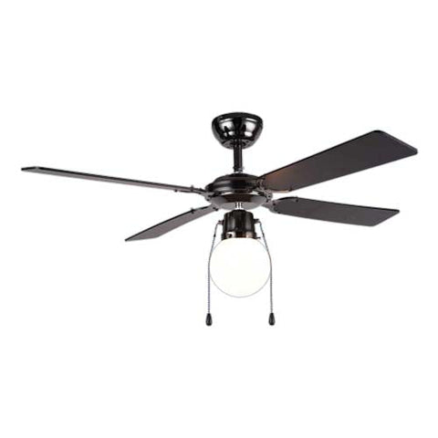 Bright Star Gun Metal Ceiling Fan With Light