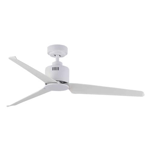 Bright Star White Metal Ceiling Fan