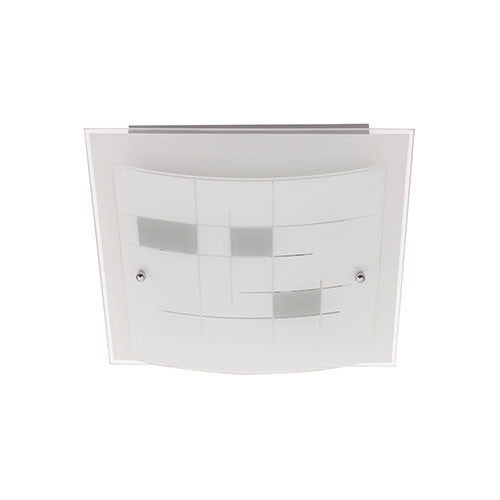 Bright Star Frosted Patterned Glass Ceiling Light 300mm CF268 SMALL