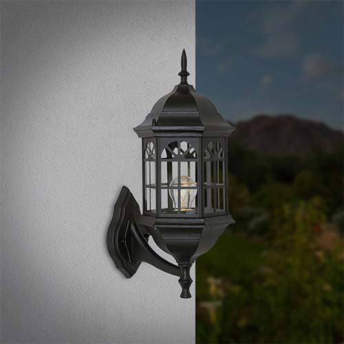 Bright Star Upfacing Aluminium Wall Lantern