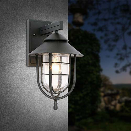Bright Star Aluminium Outdoor Wall Light
