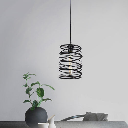 Bright Star Metal Spiral Pendant Light
