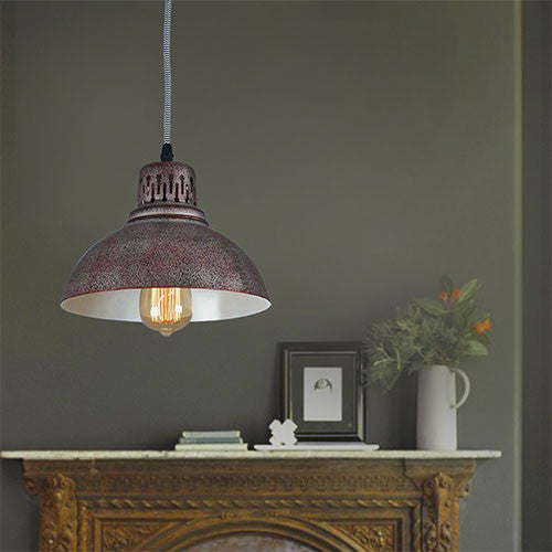 Bright Star Rusted 1 Light Pendant