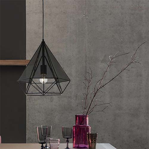 Bright Star Metal Cord & Mesh Pendant Light