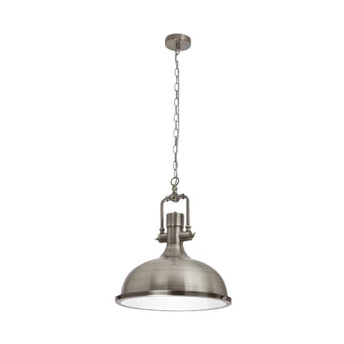 Bright Star Industrial Style Satin or Copper Pendant