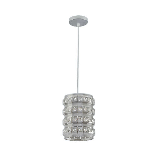 Bright Star Cylindrical Pendant With Acrylic Crystals