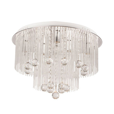 Bright Star Polished Chrome LED Ceiling Fitting with Crystals CF288 LED