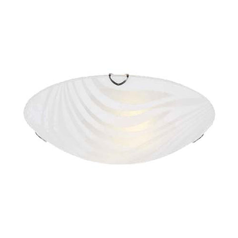 Bright Star a Strisce Glass with Polished Chrome Clips Ceiling Light 250mm