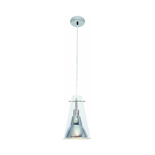 Bright Star Single Polished Chrome Inner Clear Outer Pendant