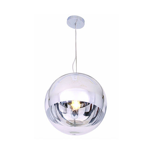 Bright Star Large Sfera Polished Chrome and Glass Pendant
