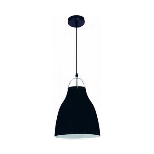 Bright Star Narrow Black Aluminium Pendant