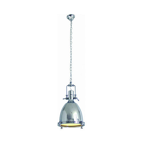 Bright Star Industrial Style Polished Steel Pendant
