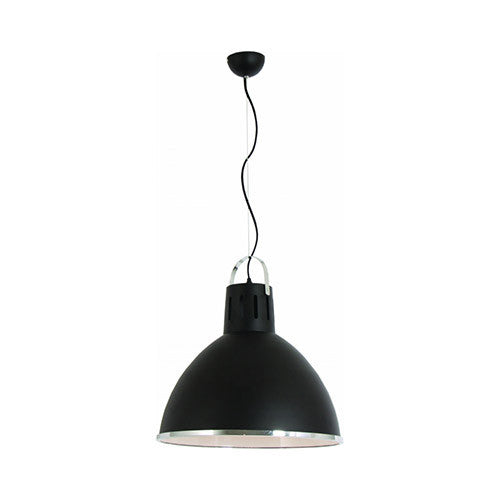 Bright Star Black Pendant with Chrome Trim