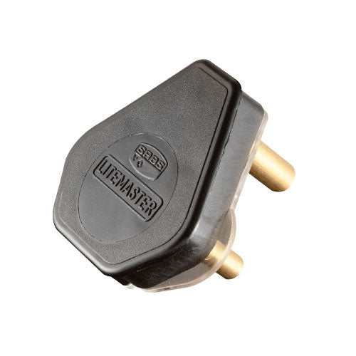 Crabtree Plug Top 3 Pin 16A Black