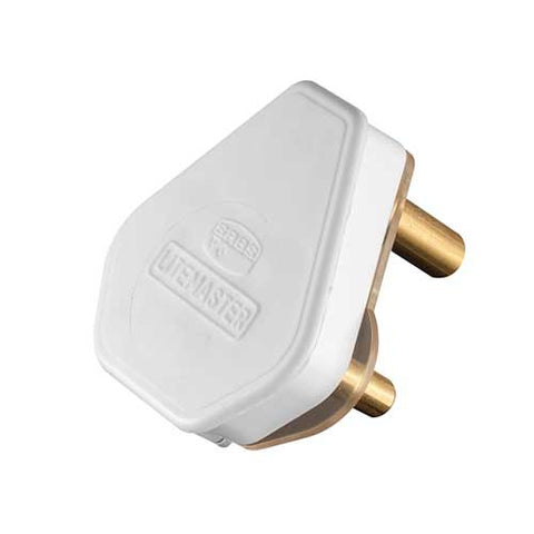 Crabtree Plug Top 3 Pin 16A White